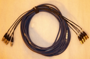 15 metre 4 way Xlr to Xlr loom